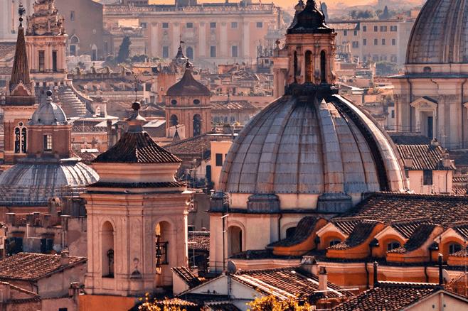 cena romantica a Roma